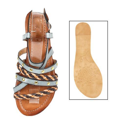 Damen Sandaletten Klassische Sandaletten - Hellgrau