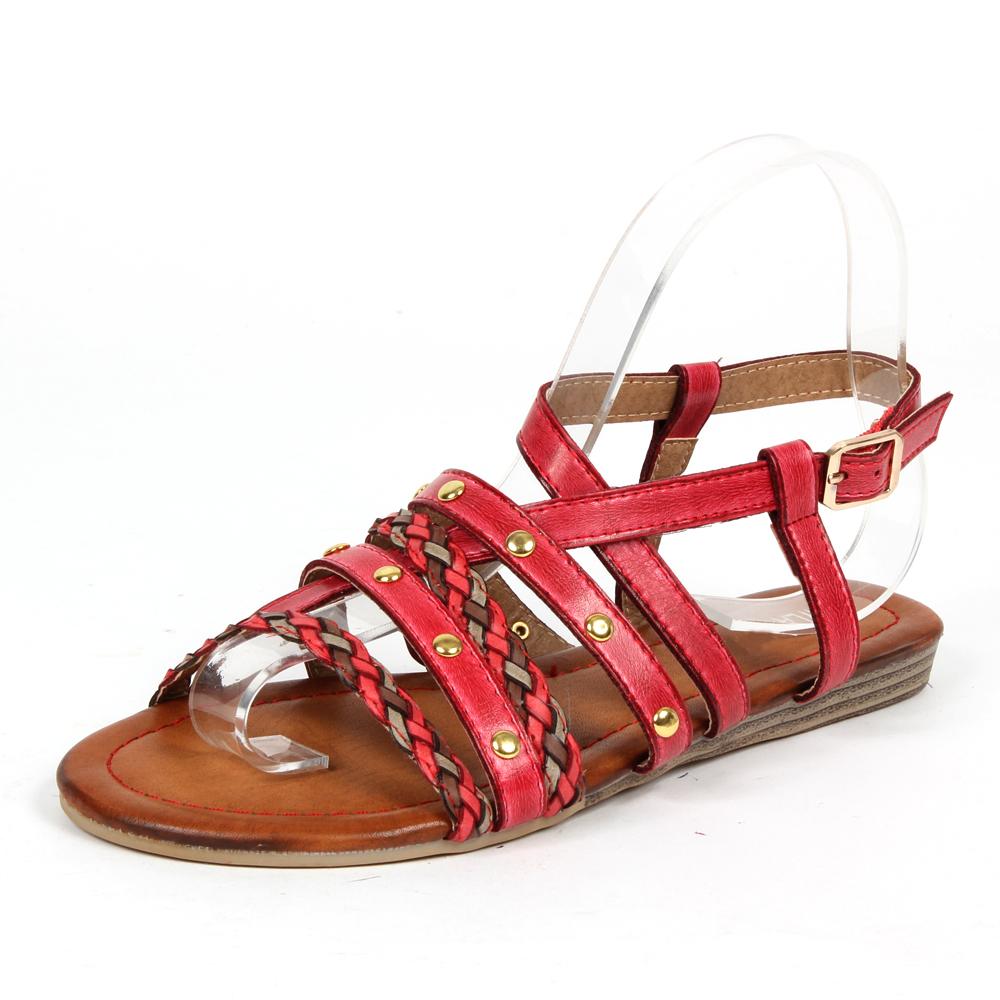 Damen Sandaletten Klassische Sandaletten - Rot