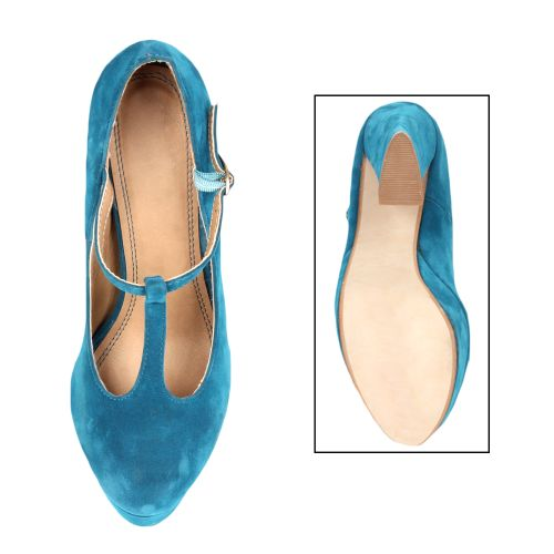 Damen Pumps High Heels - Blau