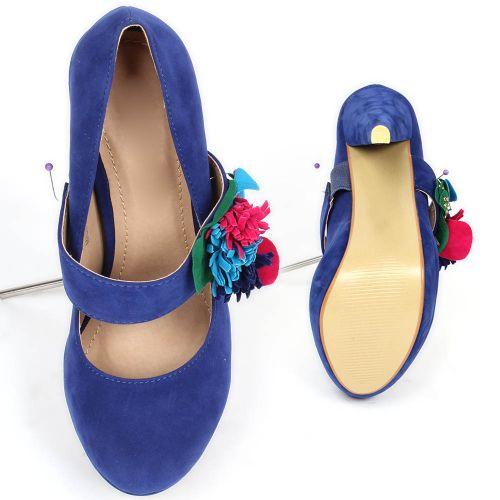 Damen Pumps High Heels - Blau