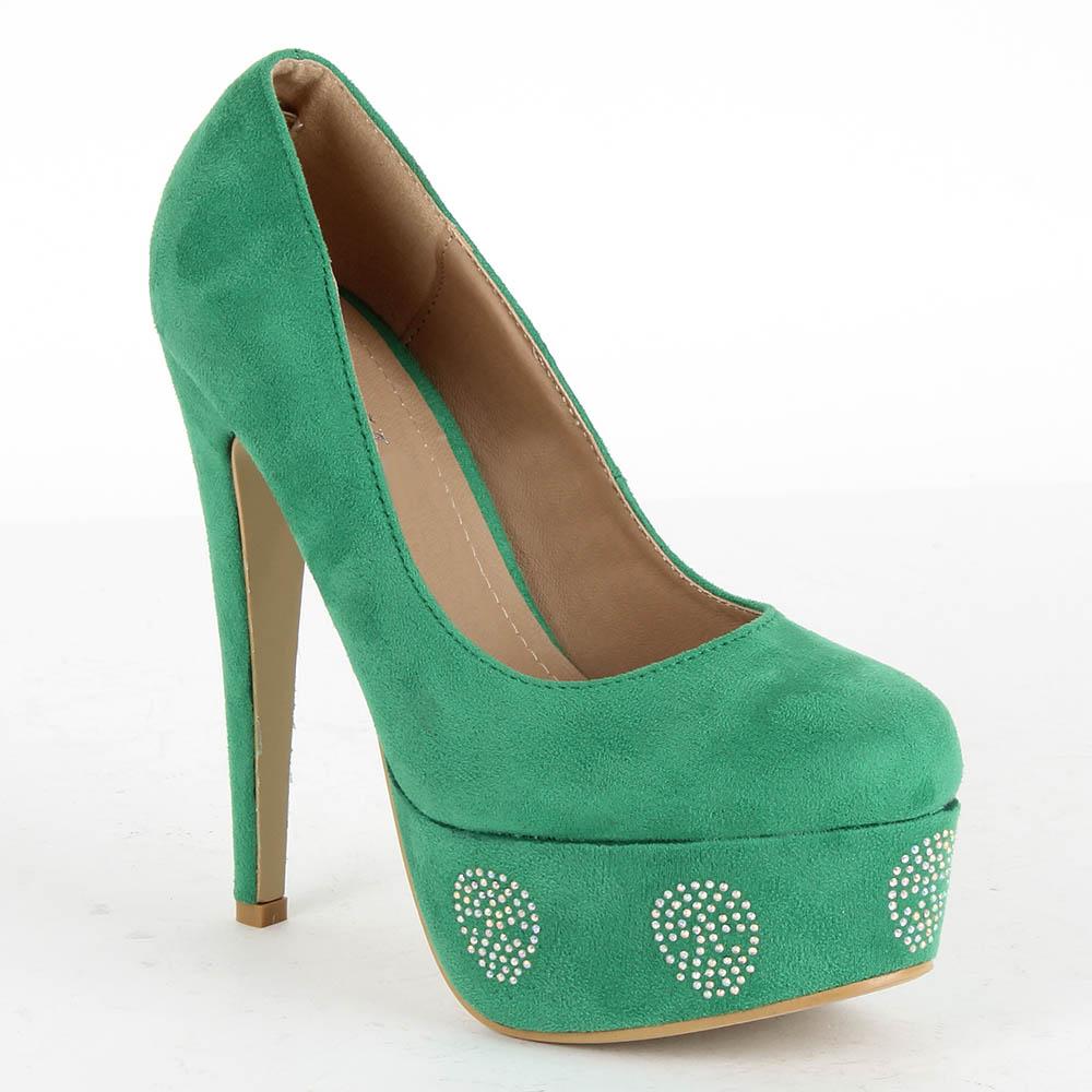Damen Pumps High Heels - Hellgrün