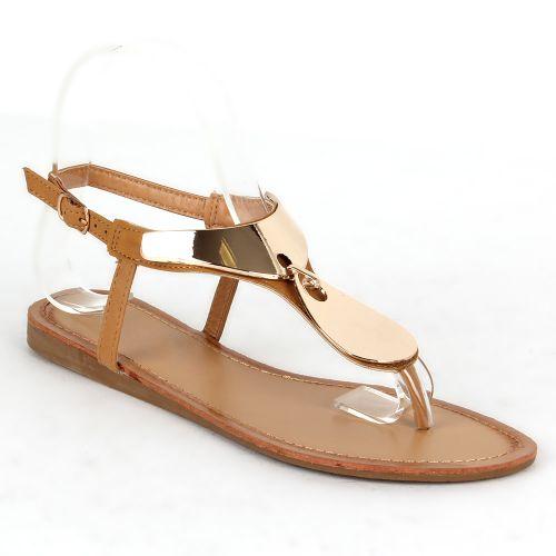 Damen Komfort Sandalen - Hellbraun