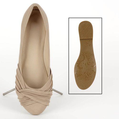 Damen Ballerinas Klassische Ballerinas - Creme