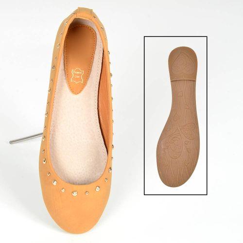 Damen Ballerinas Klassische Ballerinas - Braun