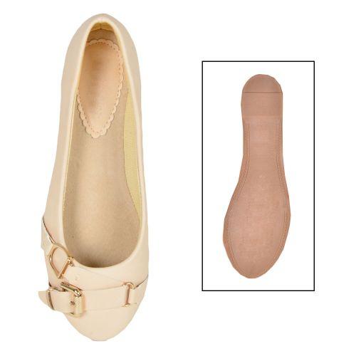 Damen Klassische Ballerinas - Beige