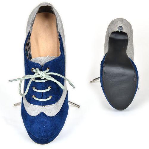 Damen Pumps Schnürpumps - Blau