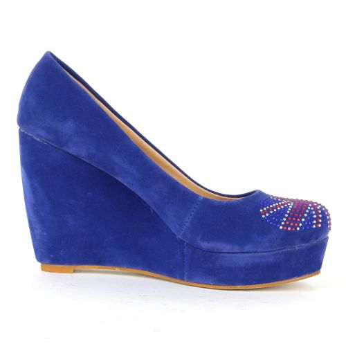 Damen Pumps Keilpumps - Blau