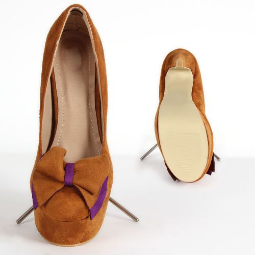 Damen Pumps High Heels - Braun