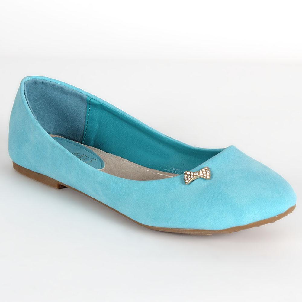 Damen Klassische Ballerinas - Hellblau