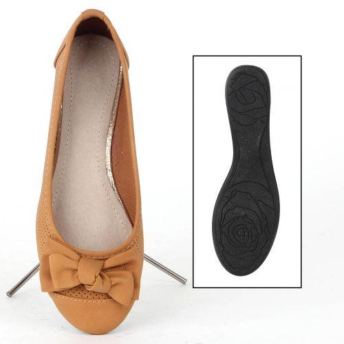 Damen Klassische Ballerinas - Hellbraun
