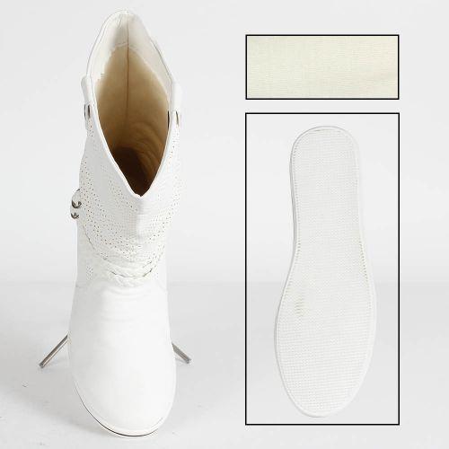 Damen Stiefeletten Schlupfstiefel - Weiß