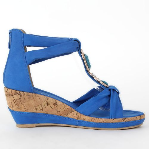Damen Komfort Sandalen - Blau