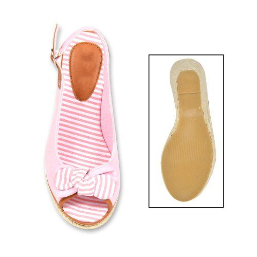 Damen Sandaletten Keil Sandaletten - Rosa - Hyde Park