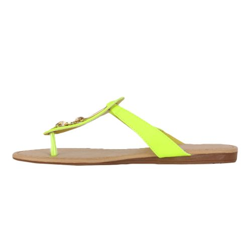 Damen Komfort Sandalen - Gelb