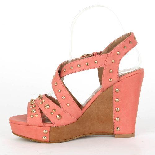 Damen Sandaletten Keilsandaletten - Apricot