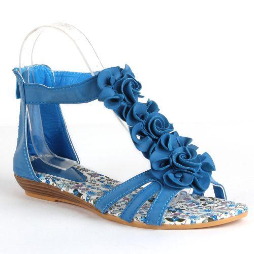 Damen Sandalen Ankle Boots - Blau
