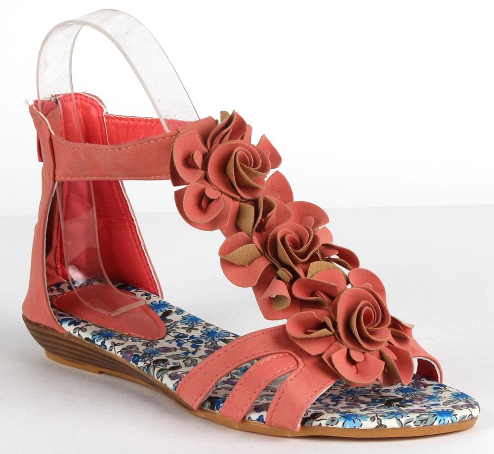 Damen Sandalen Ankle Boots - Apricot