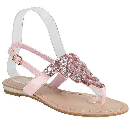 Damen Sandalen Zehentrenner - Rosa - Country Club