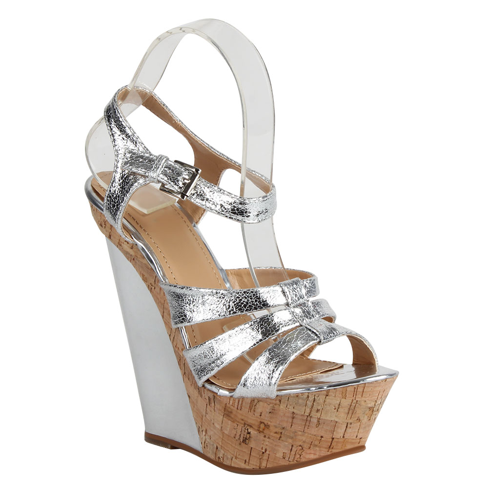 Damen Sandaletten High Heels - Silber