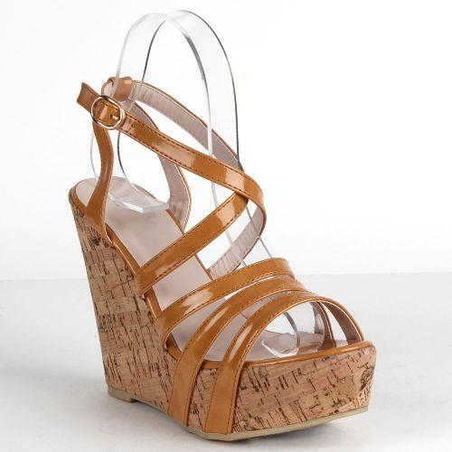 Damen Sandaletten High Heels - Hellbraun