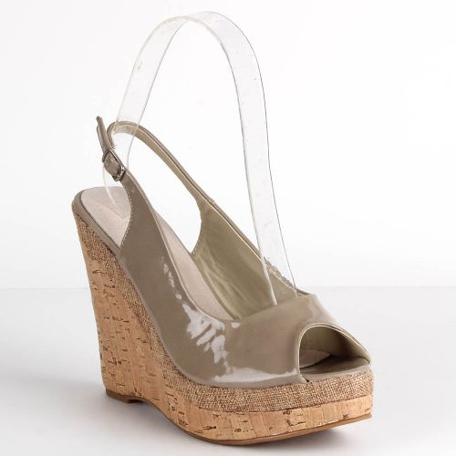 Damen Sandaletten Keilsandaletten - Stone