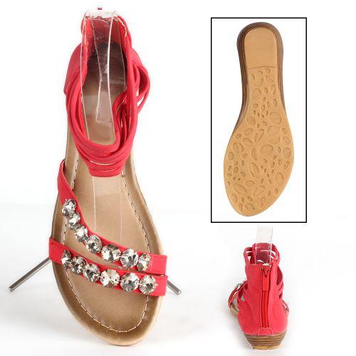 Damen Komfort Sandalen - Rot