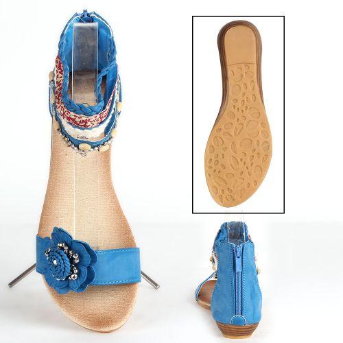 Damen Sandalen Schaftsandalen - Blau