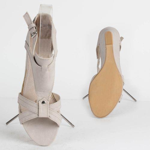 Damen Klassische Sandaletten - Hellgrau
