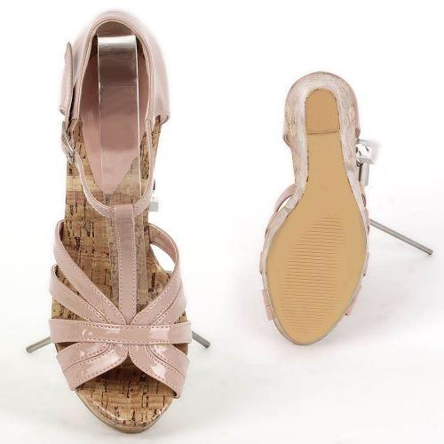 Damen Sandaletten Keil Sandaletten - Rosa - Rison