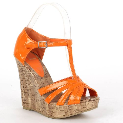 Damen Sandaletten Keilsandaletten - Orange