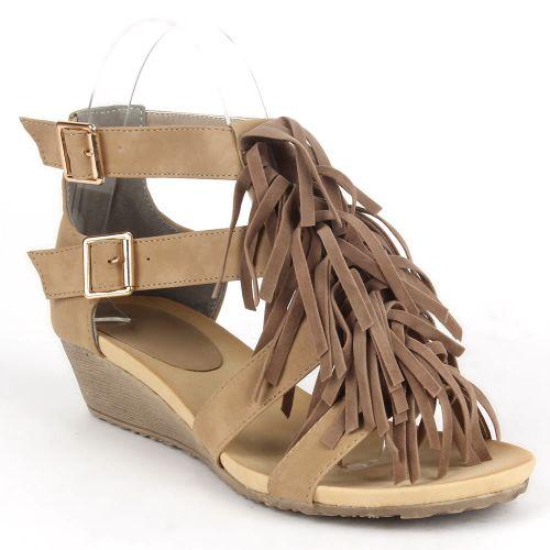 Damen Sandaletten Klassische Sandaletten - Khaki