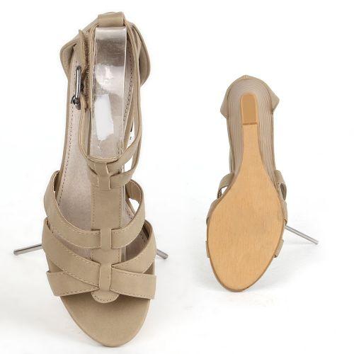 Damen Klassische Sandaletten - Khaki