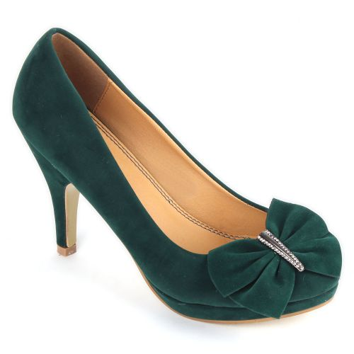 Damen Klassische Pumps - Grün
