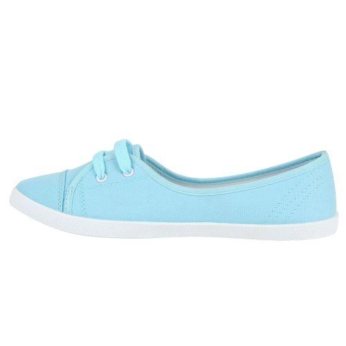 Damen Sportliche Ballerinas - Weiß Hellblau