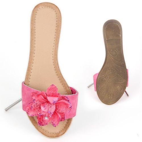 Damen Komfort Sandalen - Fuchsia