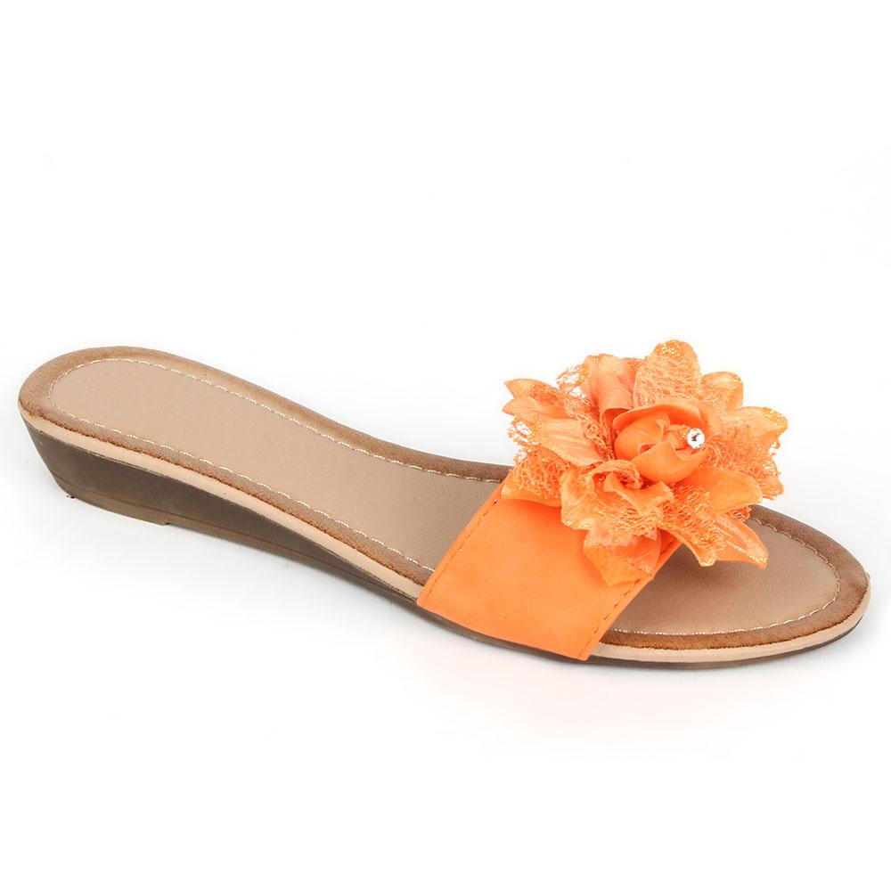 Damen Komfort Sandalen - Orange