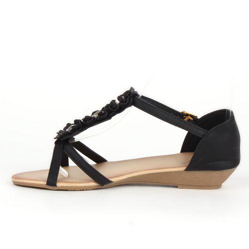 Damen Komfort Sandalen - Schwarz