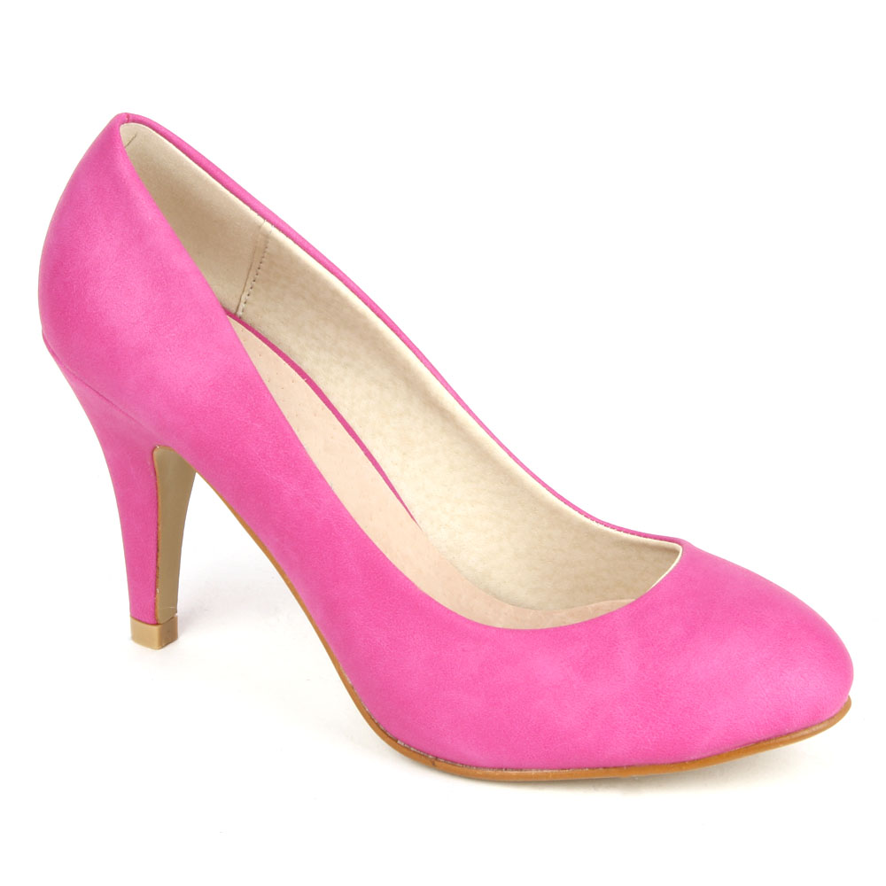 Damen Pumps High Heels - Fuchsia