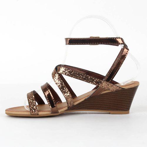 Damen Komfort Sandalen - Bronze