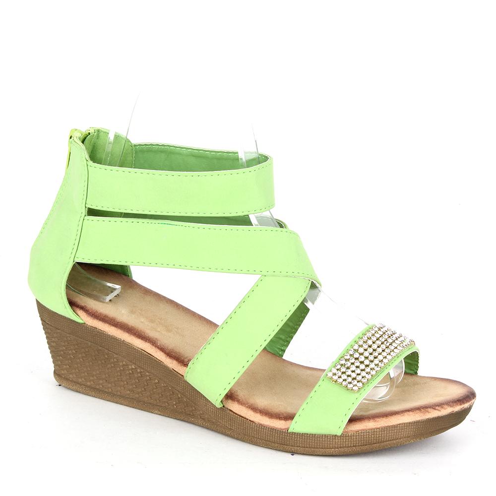 Damen Klassische Sandaletten - Hellgrün