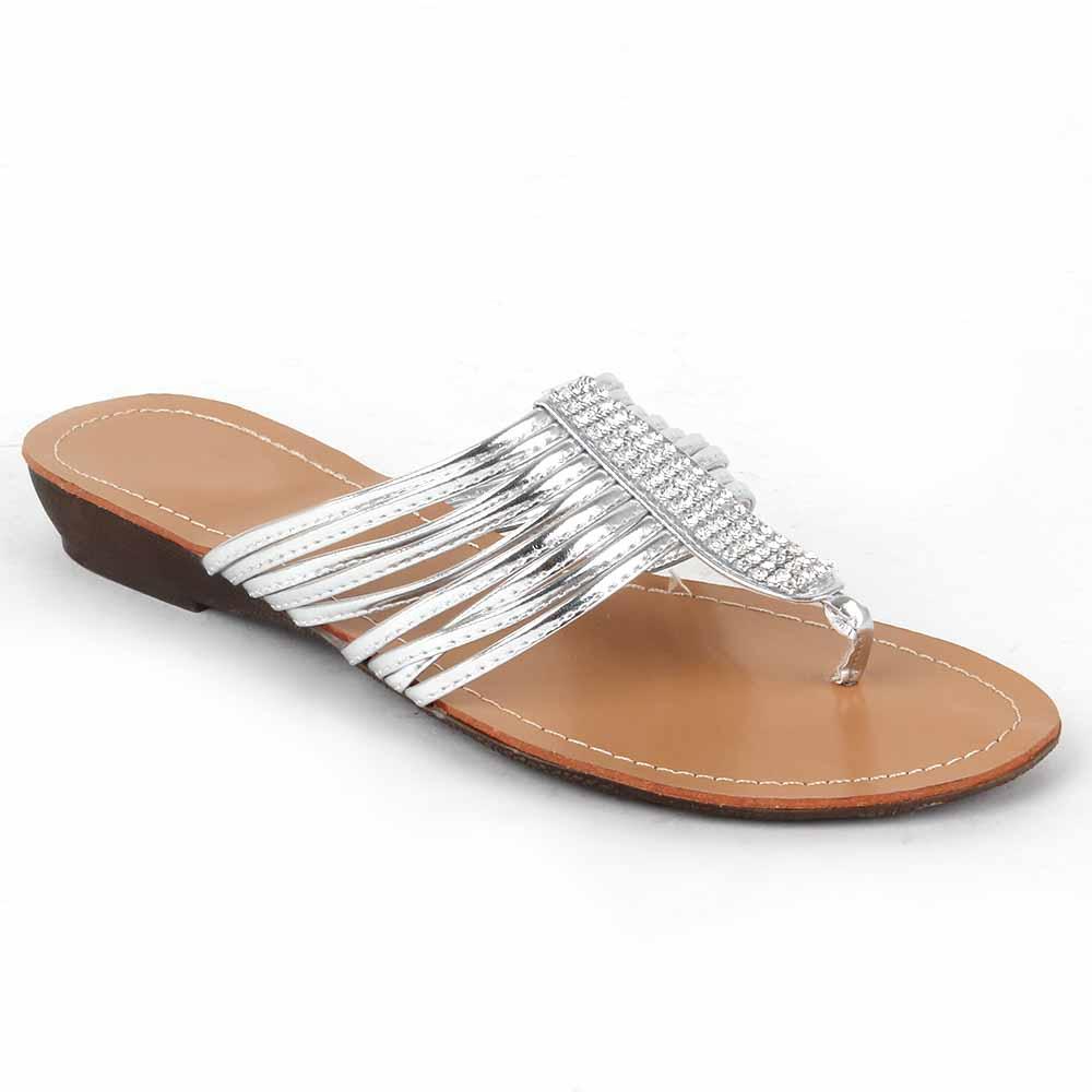 Damen Komfort Sandalen - Silber