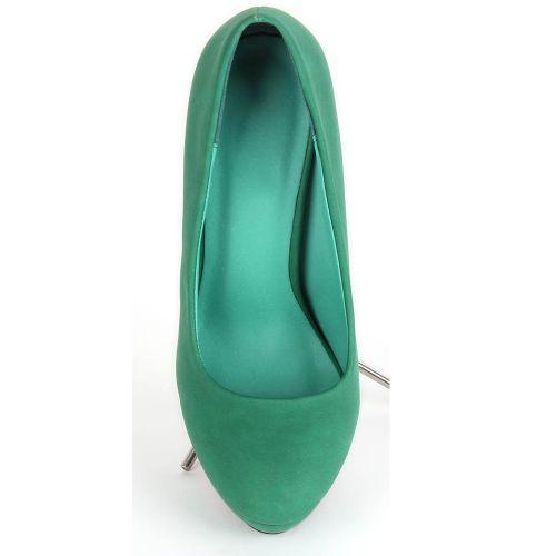 Damen Plateau Pumps - Grün