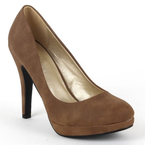 Damen Pumps High Heels - Khaki