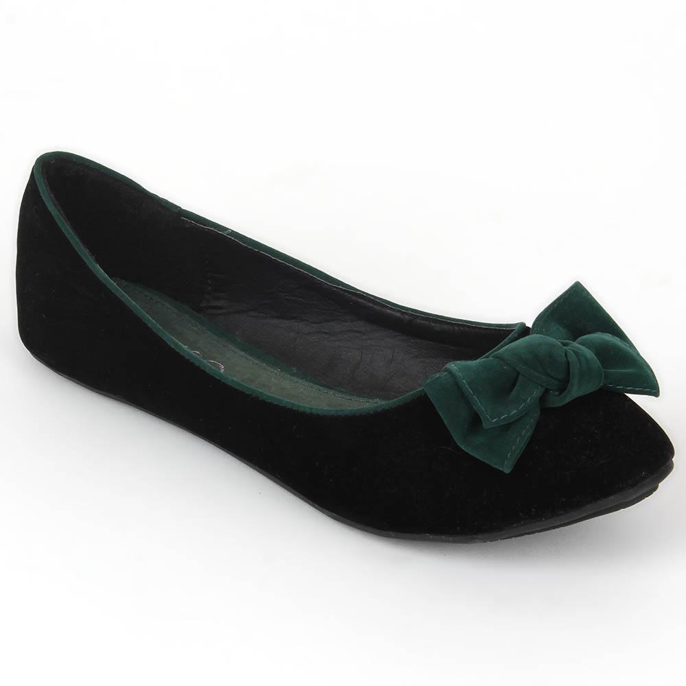Damen Klassische Ballerinas - Dunkelgrün