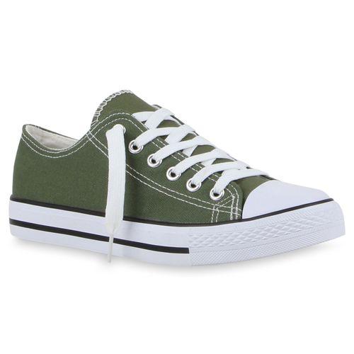 Damen Sneaker low - Olivgrün