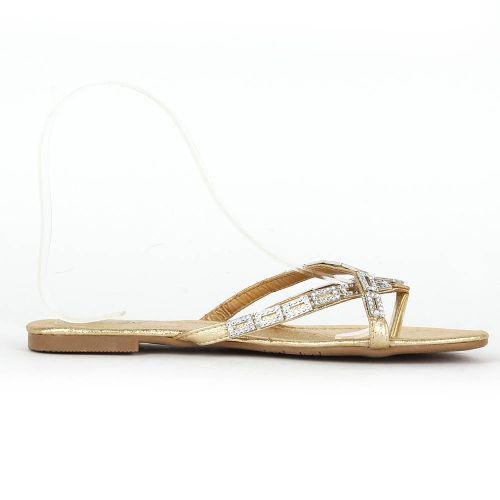 Damen Komfort Sandalen - Gold