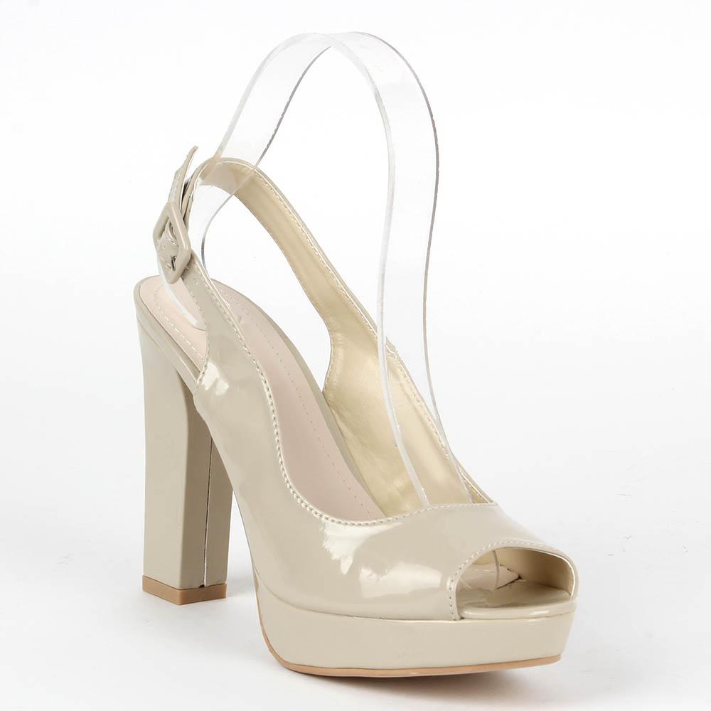 Damen Klassische Sandaletten - Creme