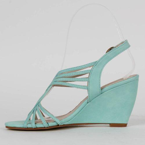 Damen Sandaletten High Heels - Hellgrün