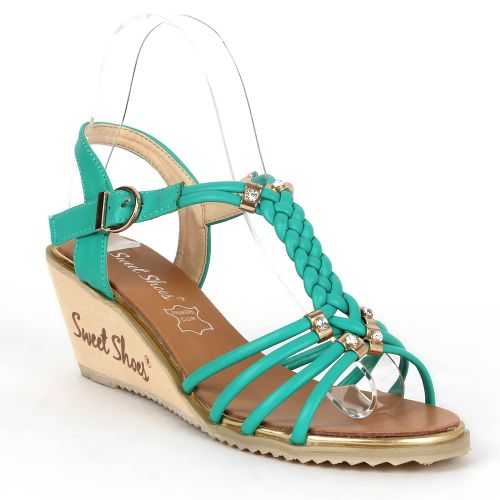 Damen Klassische Sandaletten - Grün