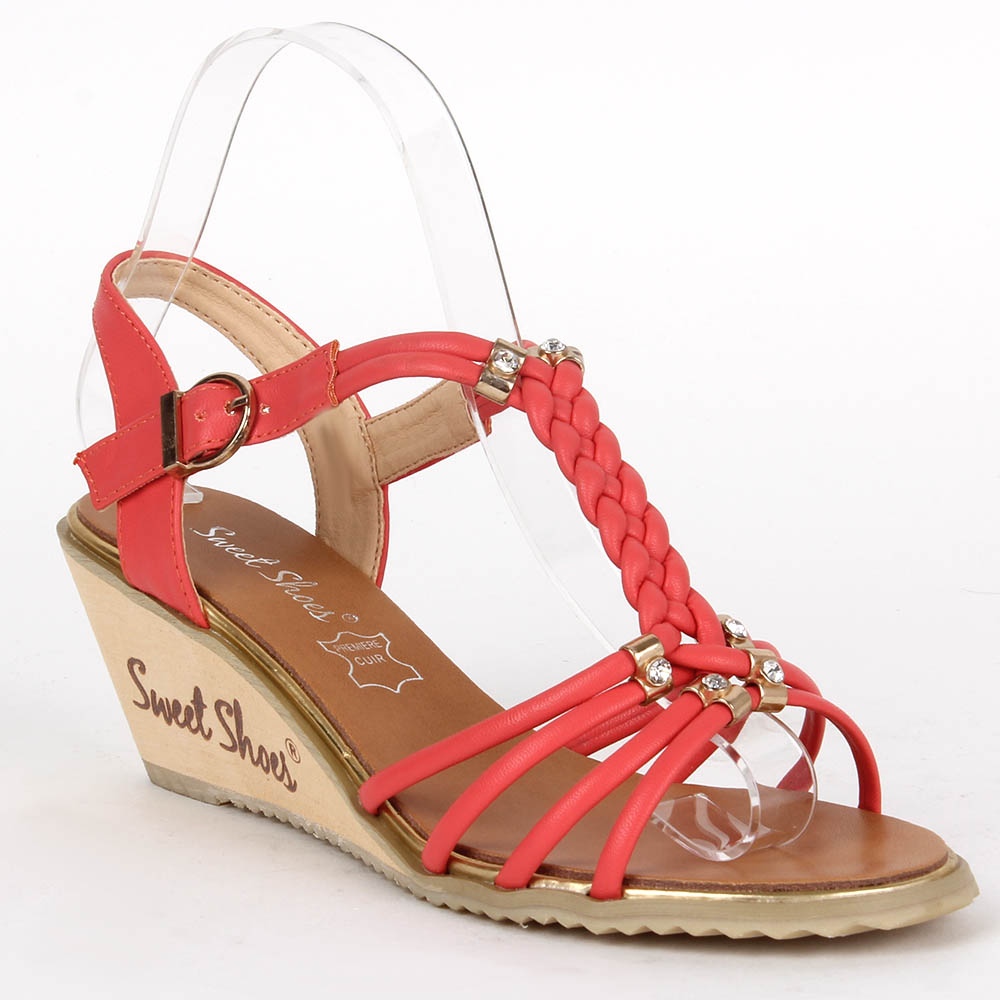 Damen Klassische Sandaletten - Coral